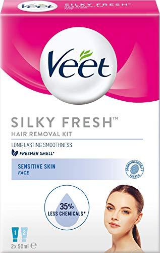 Veet Face Hair Removal Kit Sensitive Skin, 2x50ml