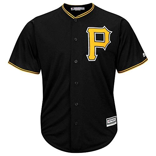 Majestic Pittsburgh Pirates Cool Base MLB Trikot Alternate Schwarz, S