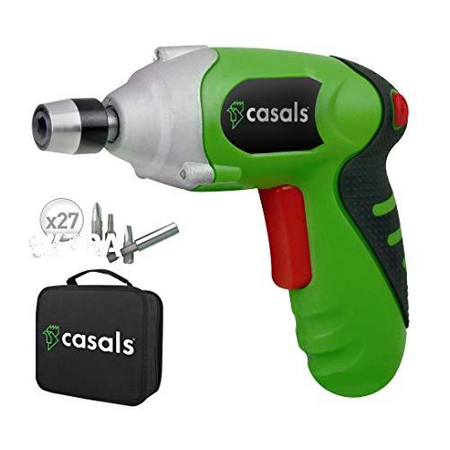 Casals C01241000 Atornillador a batería de litio y maletín completo, 4.7 W,...