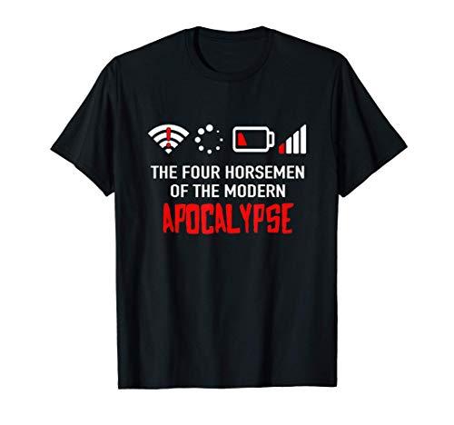 Die vier modernen apokalyptischen Reiter - Problem Nerd Geek T-Shirt