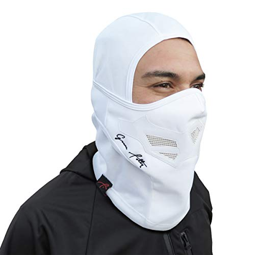 Full Balaclava Ski Face Mask. Use for Snowboarding & Cold Winter Weather Sports (One Size, Solid White)