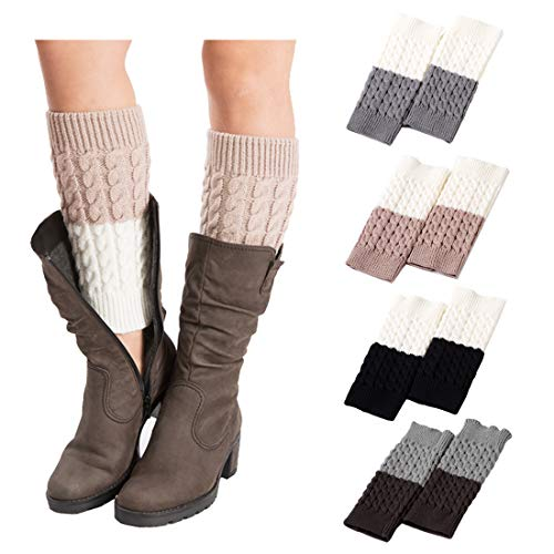 FAYBOX Leg Warmers Women Boot Cuffs Short Boot Cover Toppers 1/3/4Pairs