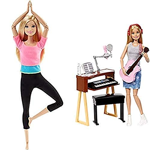 Barbie Made to Move Doll [Amazon Exclusive] AND Barbie Musician Doll & Playset