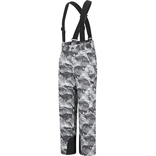 Ziener Ando Junior Ski Pant - Grey Mountain Print
