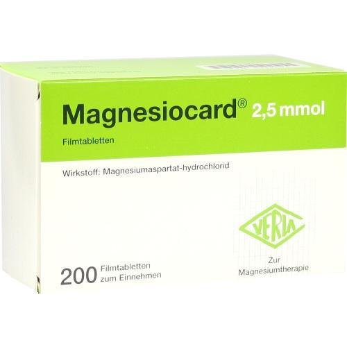 MAGNESIOCARD 2.5MMOL 200St 5359504