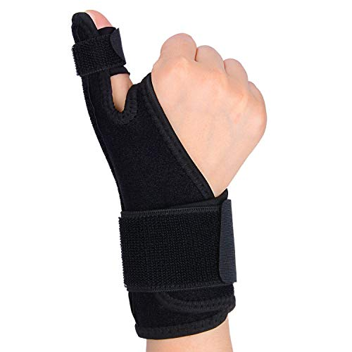 supregear Férula para Pulgar, Ajustable Estabilizador de Pulgar Férula de Dedo Soporte de Pulgar, Envoltura de Compresión con Férula para Mano Derecha e Izquierda Dedo en Gatillo para Artritis