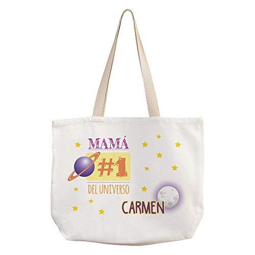 LolaPix Bolsas Día de la Madre Personalizadas con Nombre/Texto. Regalos Dia de la Madre Personalizados. Varios diseños. #1 Mamá