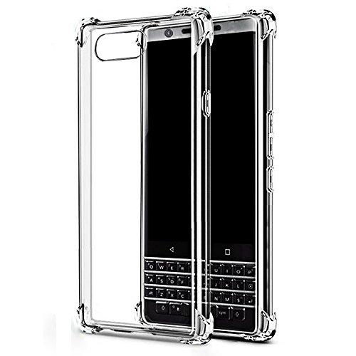 HUUH Coque Blackberry KEY2 Lite, Coquille de Protection de téléphone,Slim,Haute Transparence TPU Couverture de Protection,Aucune déformation,Durable,Antichoc,Quatre Coins épaissis