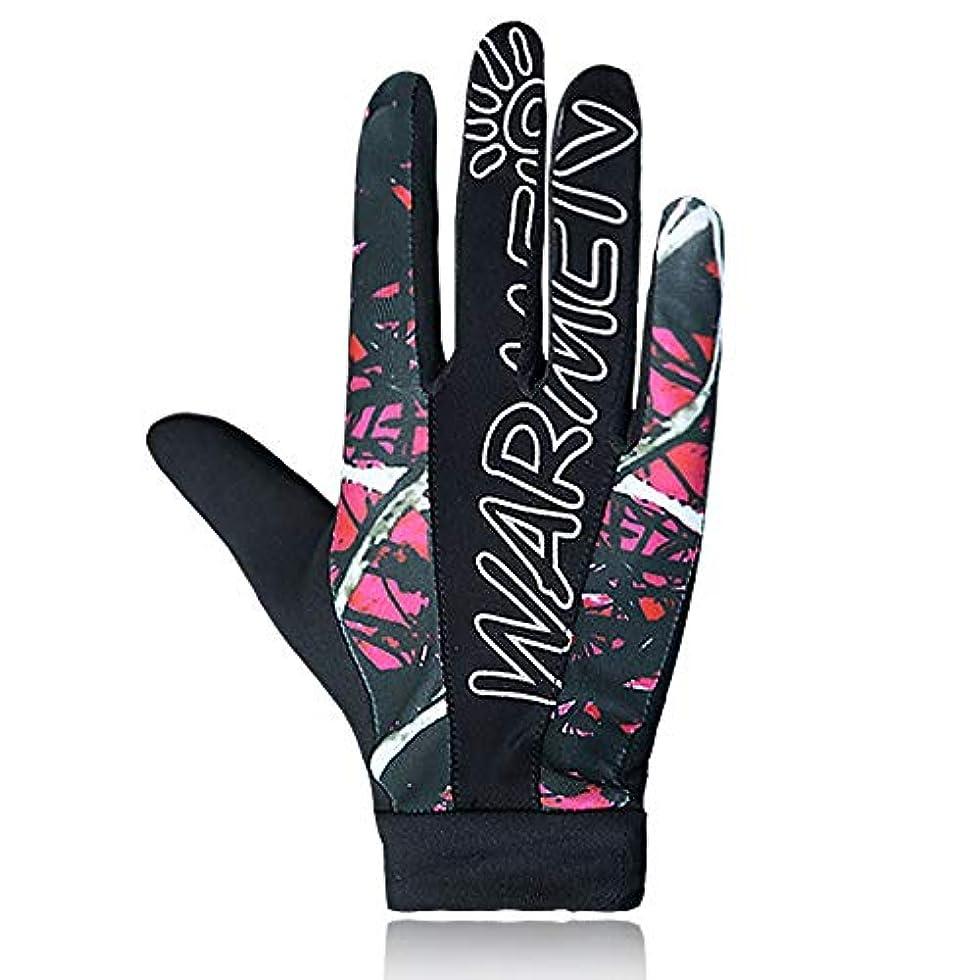 打倒商品ボタンUVカットグローブ UPF50 薄型アウトドアスポーツサンプロテクショングローブのポイント 日焼け防止 手袋 (Color : PINK, Size : M-Two pairs)