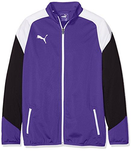 Puma Kinder Esito 4 Poly Tricot Jacket Jacke, Prism Violet White-Ebony, 140