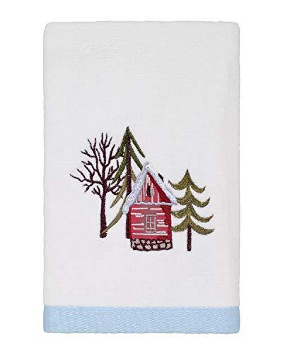 Avanti Linens Christmas Village Hand Towel, White