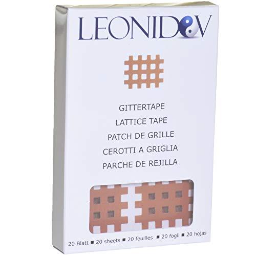 Leonidov Gittertape Typ B - 20 Blatt (120 Pflaster) 3x4 cm