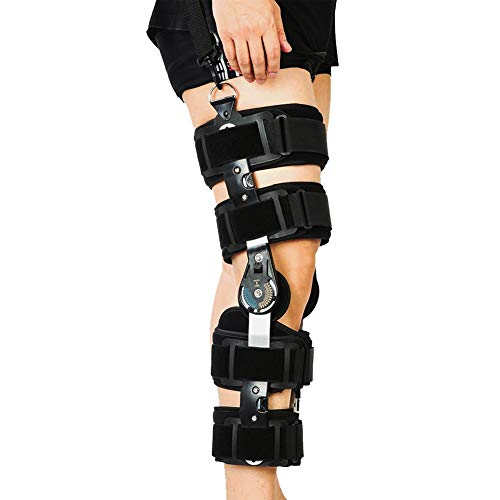 hinged knee braces Hinged Rom Knee Brace, Knee Immobilizer for ACL, MCL and PCL, Orthopedic Rehab, Meniscus Tear, Post Op Recovery Stabilize Support for Men & Women