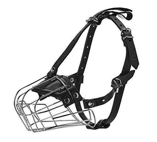 Viper Delta Metal Wire Basket Dog Muzzle, 4'(10cm)...