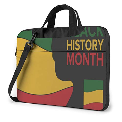 African American History Laptop Case Bag Sleeve Shoulder Messenger Briefcase Portable Computer Bag W/Strap Handle for 13in Laptop