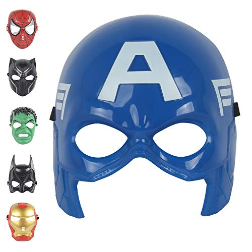 Christmas Mask Children's Mask Cosplay Boy Toy Avengers Movie for 3 4 5 6 7 8 9 10 Years Old Mask (Captain America)