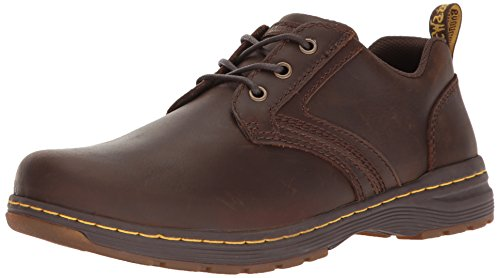 Dr. Martens Gilmer Dark Brown Republic, Scarpe Stringate Derby Uomo, Marrone, 41 EU