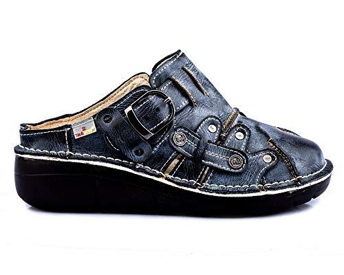 TMA 8890 Damen Sandaletten Leder schwarz - EUR 38