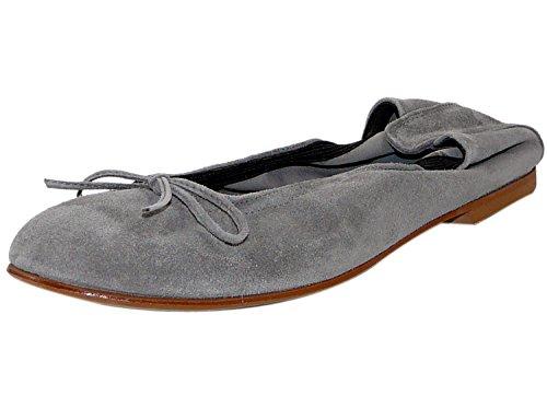 Clic! CL- 7290 DE Mädchen Damen Ballerinas mit Schleife, Grau (Ante Carbon), EU 41