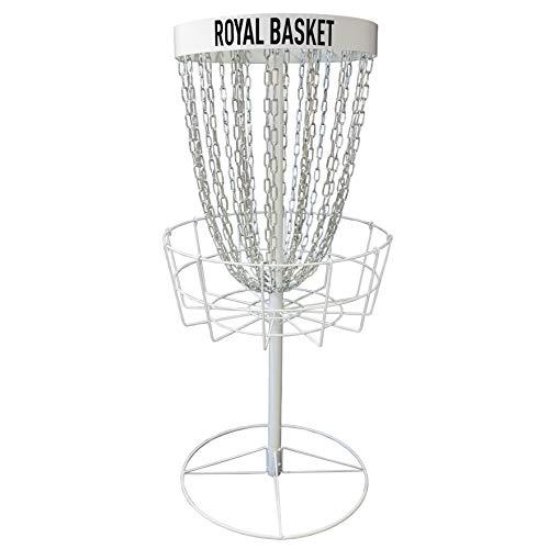 Viking Discs Royal Basket Disc Golf Korb 143 cm hoch PDGA Approved für B-Tier Wettbewerbe - 24 Ketten in Zwei Reihen, Stark und Stabil - Für Putting Praxis und Erstellen von Home Course