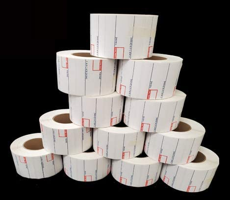 CAS 8010 Scale Label, Printing Scale Label 12 Rolls/Made in USA (8010)