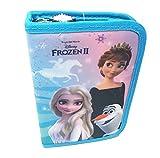 Theonoi Estuche escolar con 2 compartimentos (Frozen Anna ELSA)