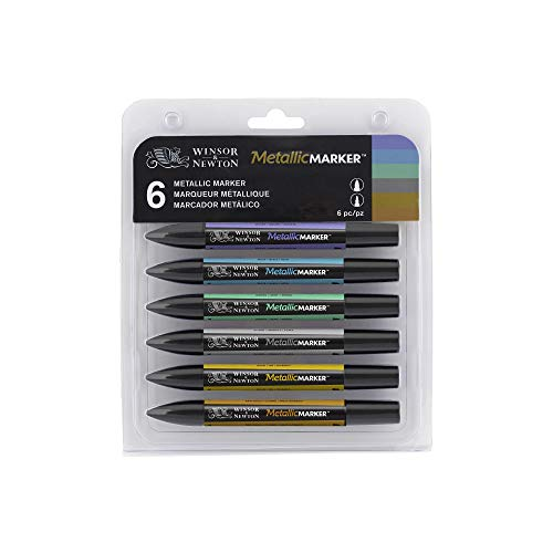 Winsor & Newton MetallicMaker - Pack de 6 rotuladores