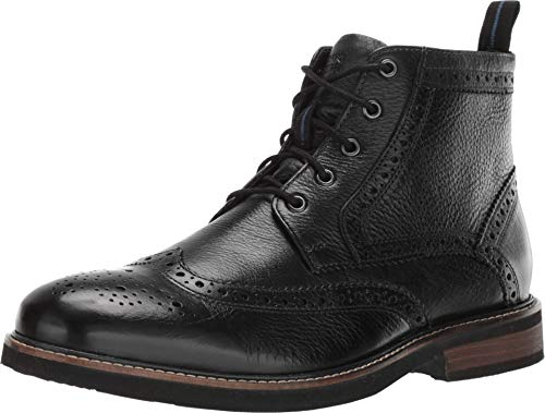 Nunn Bush Men's Odell Wingtip Dress Casual Chukka Boot, Black, 10.5 Medium