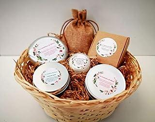 CESTA - Champú, jabón cara, jabón cuerpo, bálsamo y crema de manos - 100% ecológico y natural