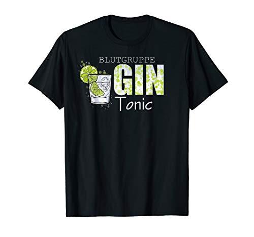 Blutgruppe Gin Tonic | GIN Geschenk | Gin Geschenkidee | GIN T-Shirt