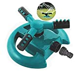 Belletek Lawn Sprinkler - Automatic 360° Rotating Adjustable Garden Hose Watering Sprinkler