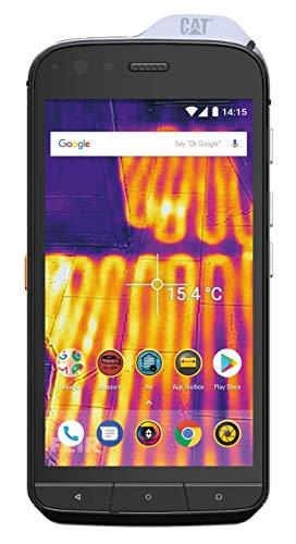 Caterpillar CS61-DAB-ROW-EN Cat S61 Smartphone (13,21 cm (5,2 Zoll) FHD IPS Bildschirm, 64 GB interner Speicher & 4 GB RAM, Dual-SIM, IP68 und Mil-Spec 810G Standard, Android 8.0) Schwarz
