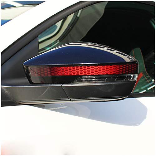 Spiegelstreifen Spiegel Aufkleber Folie Streifen Dekor Außenspiegel Rückspiegel (Karminrot, Farbverlauf DS008)