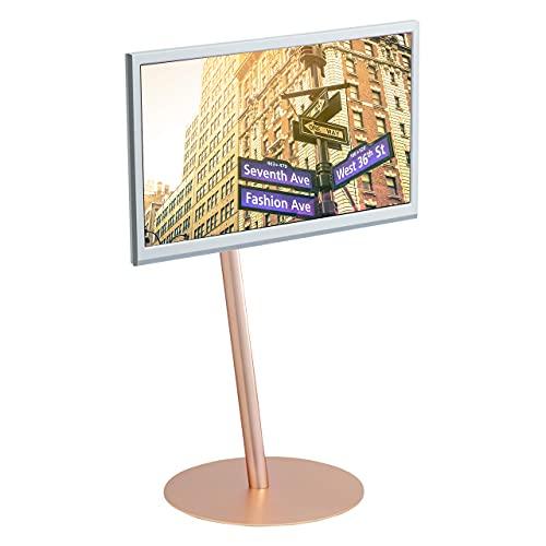 おしゃれでスマートな印象のテレビスタンド。24~45インチまでの幅広いサイズに対応していて、テレビの向きを変えることも可能。一見不安定にも見えますが、耐震性は検査済みです。