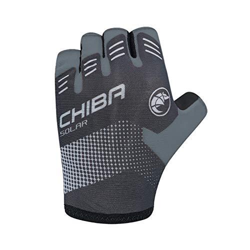 Chiba Solar Fahrrad Handschuhe kurz schwarz/weiß 2020: Größe: M (8)