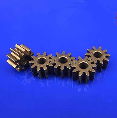 Gear Engranajes de metal 10pcs / porción Hierro de engranaje 0,5 módulo de 9/10 dientes poro de tamaño 2,3 mm engranaje de transmisión del vehículo Durable parts ( Number of Teeth : 0.5 10teet