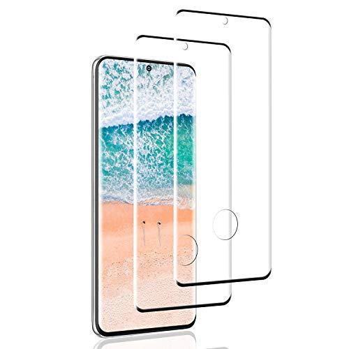 SNUNGPHIR 2 Pack Protector de Pantalla para Samsung Galaxy S20,[3D Curvo Full-Cover] Cristal Templado Galaxy S20, 9H Dureza,Sin Burbujas, Alta Definicion, Vidrio Templado para Galaxy S20