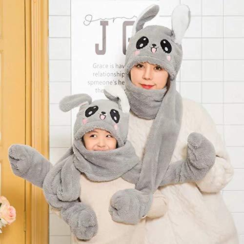 geiqianjiumai Airbag Bunny Ear Hoed Vrouwelijke Kind Hoed Ouder-kind Cap Leuke Sjaal