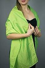 Stole donna satin taft scialli vestito da sposa nuziale poncho turchese verde neon salat
