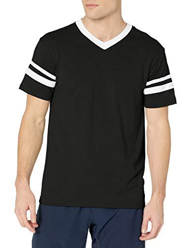 Augusta Sportswear Men's Large Sleeve Stripe Jersey, Black/White