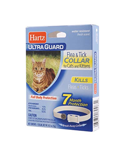 Hartz UltraGuard Flea & Tick Collar for Cats and Kittens, 7 Month Flea and Tick Protection and Prevention, White