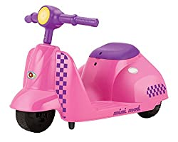 Purple and Pink Razor Electric Scooter