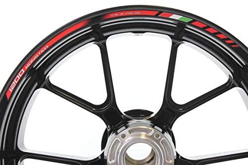 IMPRESSIATA Bandas Adhesivas SpecialGP Moto Ducati Monster 1200 Rojo