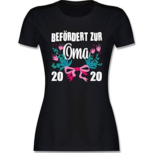 Shirtracer Oma - Befördert zur Oma 2020 mit Blumen - weiß - S - Hellgrün L191 - Tailliertes Tshirt für Damen und Frauen T-Shirt