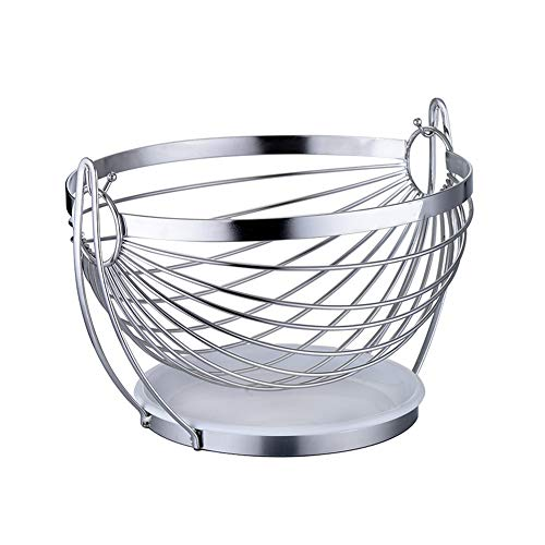 N / C Multifunctional Fruit Basket, Stainless Steel Material, Large-Capacity Smooth Surface, Stable and Durable Rocking Boat Design, Easy to Clean