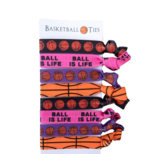 8 Piece Hair Elastic Set - Basketball Gift for Girls  Arkansas
