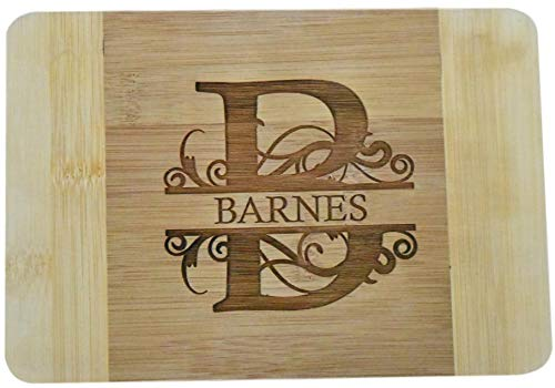 Brew City Engraving - Custom Personalized Engraved Bamboo Cutting Board - Wedding, Anniversary,...