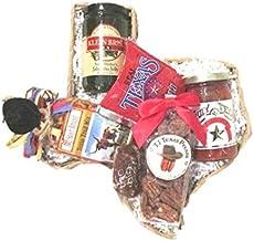 Taste of Texas Gift Basket in Texas State Shaped Basket