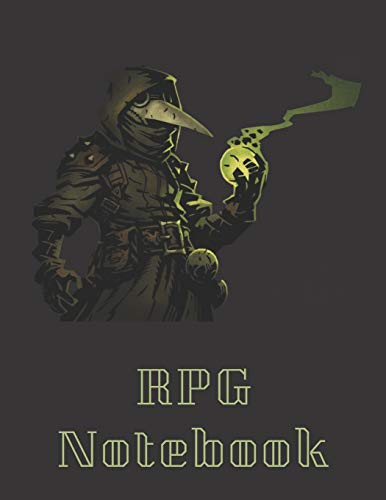RPG Notebook: Plague Doctor From Darkest Dungeons Edition | Mixed paper: Hexagon, Dot Graph, Dot Paper, Pitman: For role playi ng gamers: Notes, ... - A4 Size, 150 Pages) (RPG Darkest Dungeons)