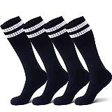 Raigoo Soccer Sock For Kids(4-16 Years Old), Sport Athletic Team Kneel High Socks For Youth Boys & Girls